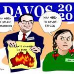 Mnuchin-and-Greta-at-Davos