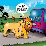 Family stickers on vehicle cartoon