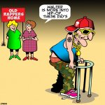 Old rapper cartoon