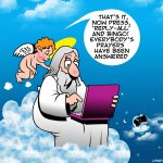 Prayers answered cartoon