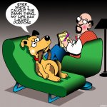 Dog chases tail cartoon