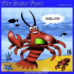 Lobster taking selfie cartoon