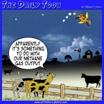 Cow jumps over the moon cartoon