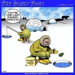 Eskimo fishing cartoon
