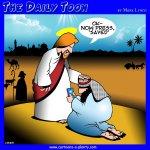 Jesus saves cartoon