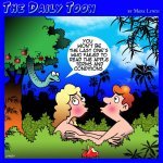 Adam and Eve cartoon
