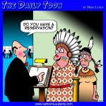 Indian reservation cartoon