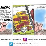 Pig protest...