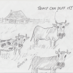trump and the cows