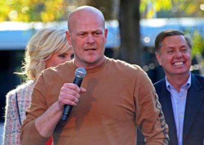 Joe the Plumber campaigning in Ohio.