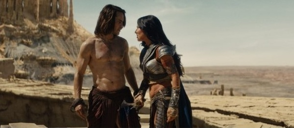Movie review of John Carter - John and Dejah