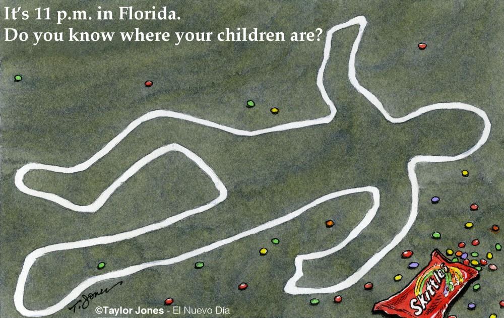 Hoodie death - Taylor Jones cartoon.