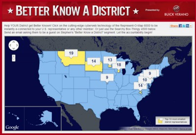 Colbert Report, Better Know a District