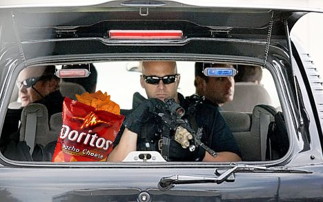 Secret Service with chips
