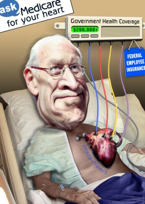 Mystery, Dick Cheney heart, art by DonkeyHotey