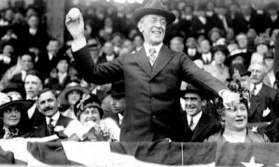 Baseball & politics - Woodrow Wilson, 1st Pitch, 1916