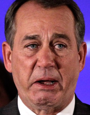 boehner crying, but could care less
