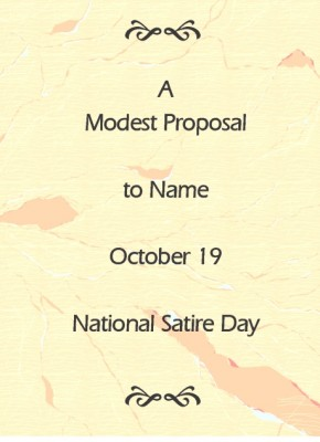 proposal for national satire day