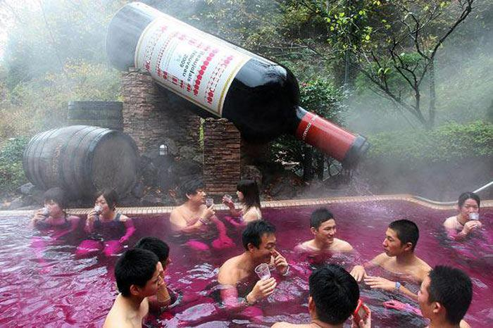 You Can Immerse Yourself in a Vat of Steaming Red Wine! But Why?