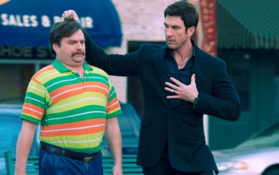 Zach Galifianakis and Dylan McDermott in The Campaign
