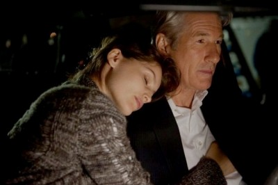Arbitrage, Laetitia Casta as Julie Cote with Richard Gere as Robert Miller