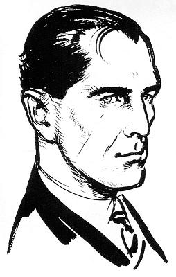 Ian Flemming's drawing of James Bond
