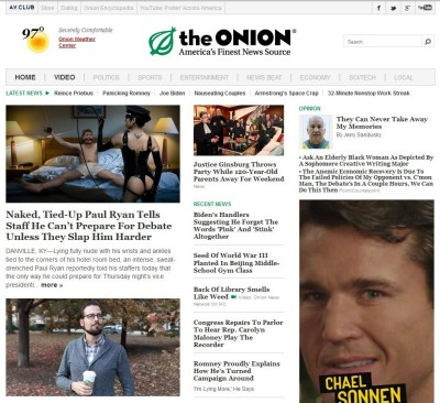 the onion, spoof news