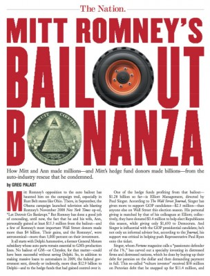 Romney Secretly Made Millions Off the Auto Bailout
