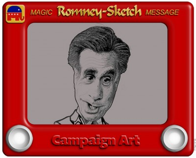 Romney Etch a Sketch, debate