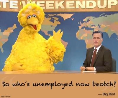 Big bird to Romney