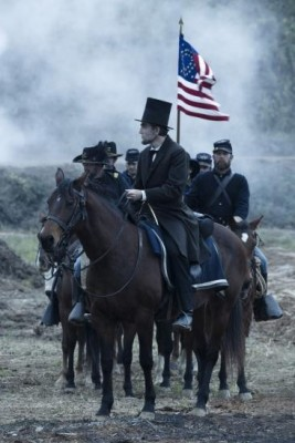 Lincoln on horseback