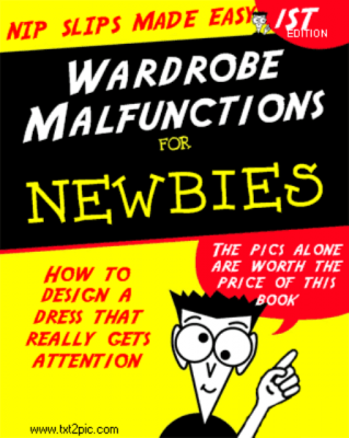 Wardrobe malfunctions, nip slip book