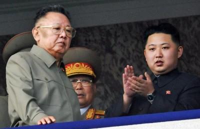 Kim Jong Un and dad