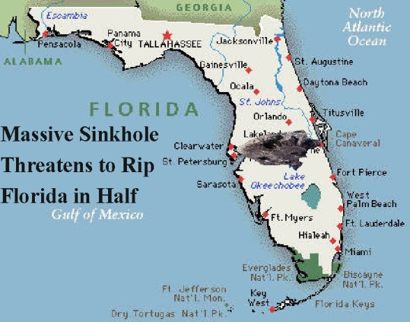 Massive Sinkhole Threatens to Rip Florida in Half - Humor Times