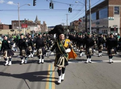 irish pipers, St. Patrick's parade