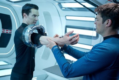 Star Trek: Into Darkness, Benedict Cumberbatch and Karl Urban