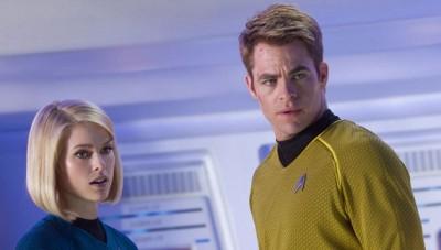 Star Trek: Into Darkness, Alice Eve and Chris Pine