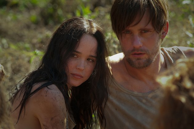 Ellen Page and Alexander Skarsgard in The East