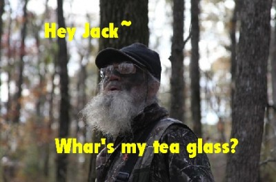 Duck Dynasty's Uncle Si tea glass