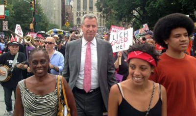 Bill de Blasio in New York.