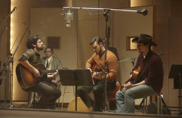 Justin Timberlake, Oscar Isaac and Adam Driver in Inside Llewyn Davis