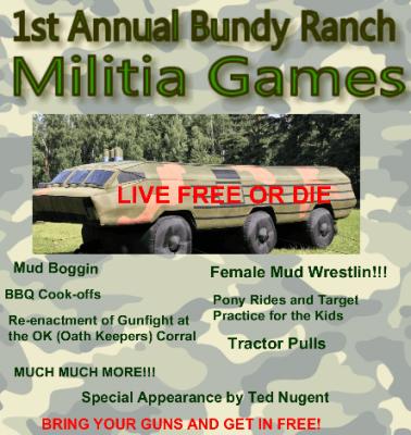 Militia BBQ Cook-off at Bundy Ranch