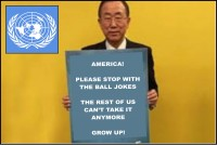 World Unites to Demand U.S. End Proliferation of 'Balls' Jokes