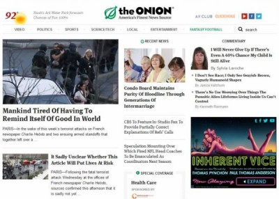The Onion fake news