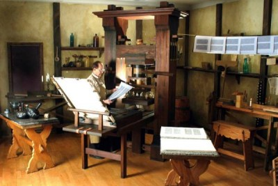 Gutenberg printing press, science