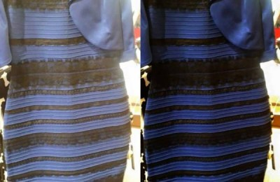 headlines today, white, blue, gold dress