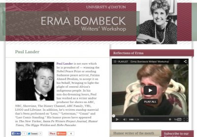 Paul Lander Named 'Erma Bombeck Humor Writer of the Month' for Headlines Today