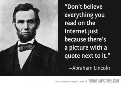 Honest Abe Lincoln Income Tax