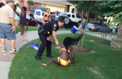 McKinney Police at pool party