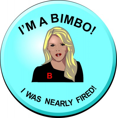 Fox News' Megyn Kelly Bimbo Button